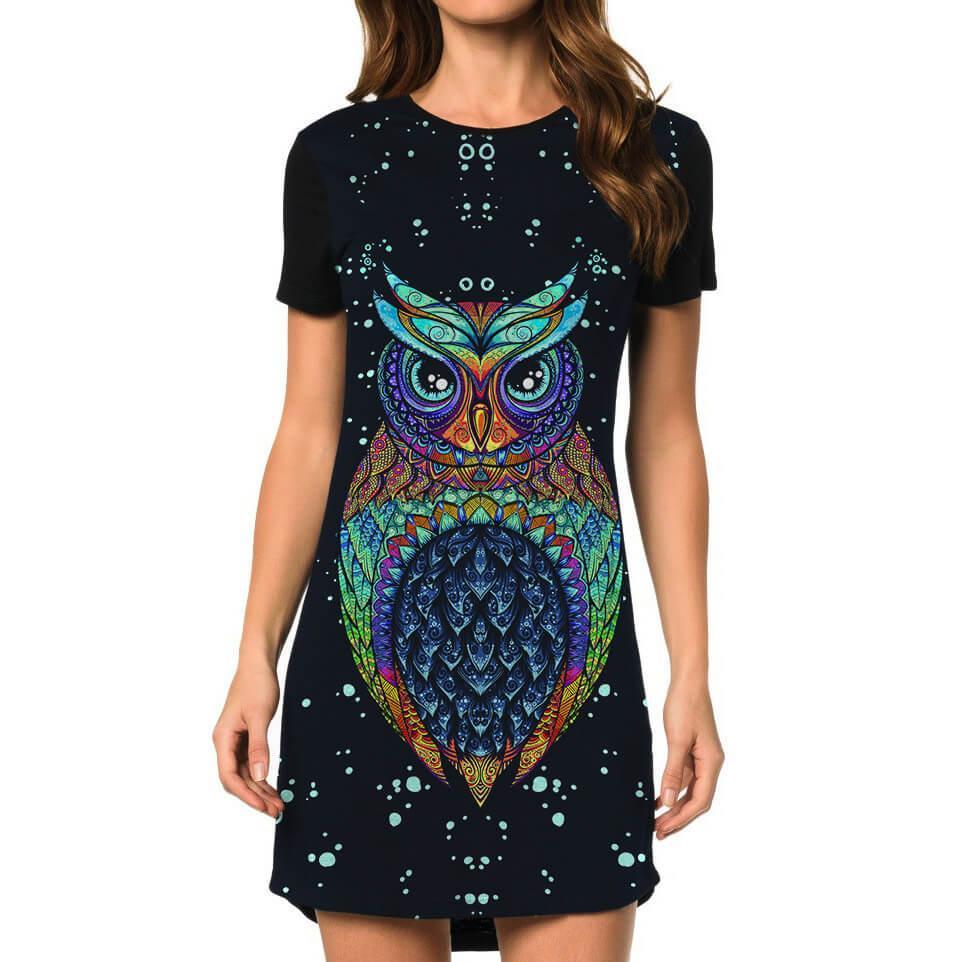 Vestido Coruja Owl Tribal