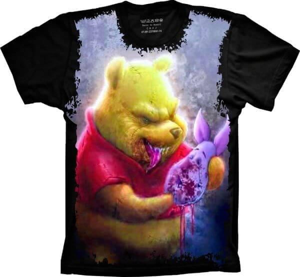 Camiseta Ursinho Pooh Malvado