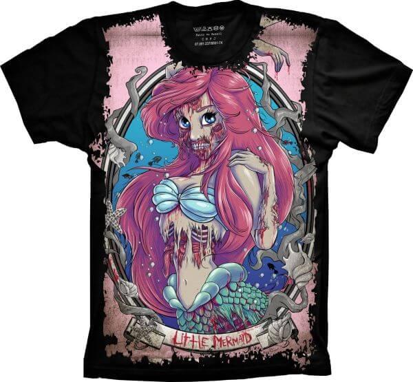 Camiseta Princesa Ariel Zumbi