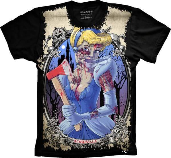 Camiseta Cinderela Zumbie