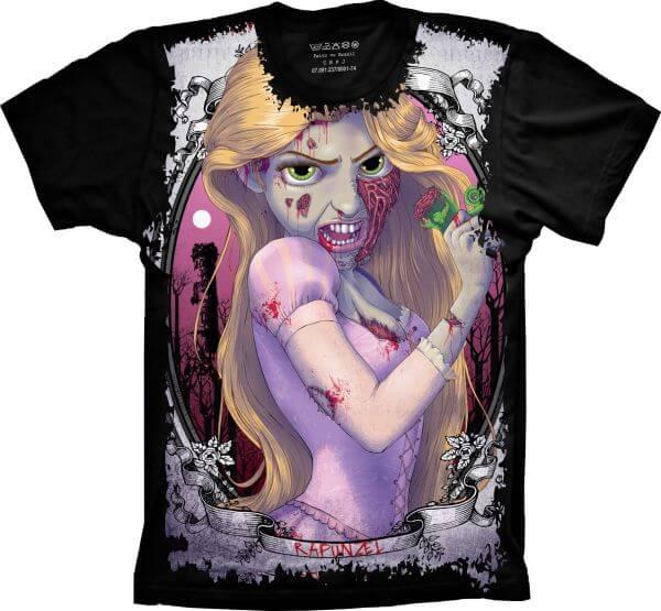 Camiseta Rapunzel Zumbi