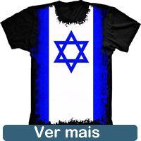 Camiseta Bandeira Israel