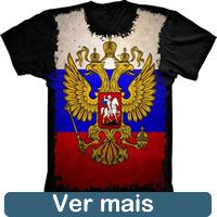 Camiseta Bandeira Rusia